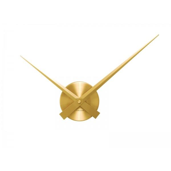 Nástenné hodiny Karlsson - Little Big Time Mini, zlaté